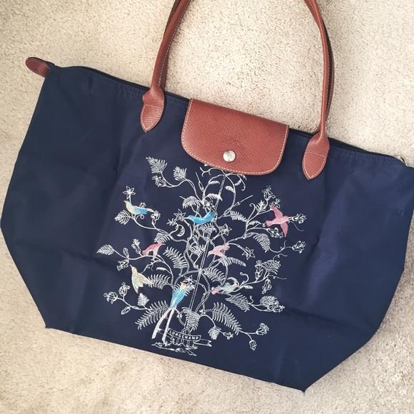 "c930988a5e Longchamp Handbags - Longchamp Limited Edition ""Birds of Paradise"""